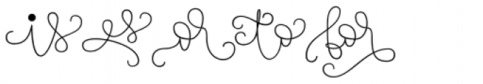 Touch Me Extras Font UPPERCASE