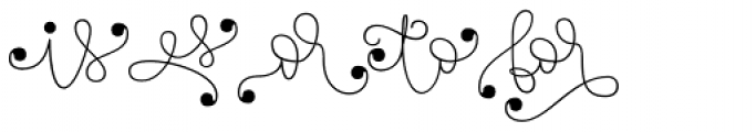 Touch Me Extras Font LOWERCASE