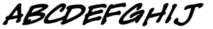 Tough Talk Bold Italic Font LOWERCASE