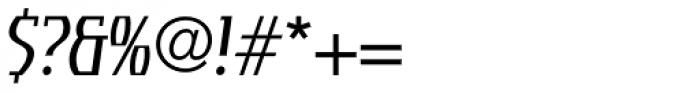 Tourandot Pro Cond Light Italic Font OTHER CHARS