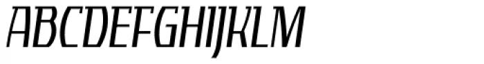 Tourandot Pro Cond Light Italic Font UPPERCASE