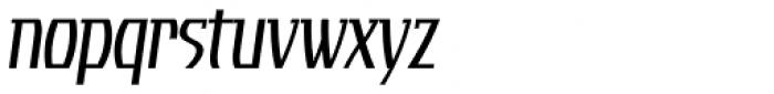 Tourandot Pro Cond Light Italic Font LOWERCASE
