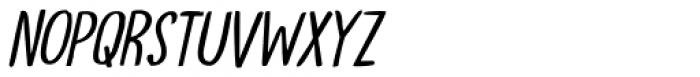 Tournedos Lite Italic Font UPPERCASE