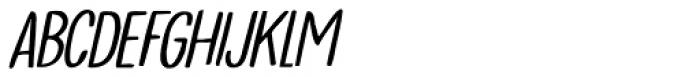 Tournedos Lite Italic Font LOWERCASE