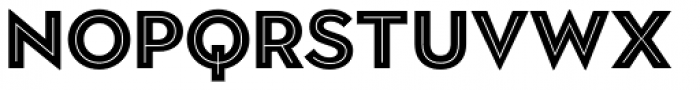 Town 20 Inline Black Font UPPERCASE