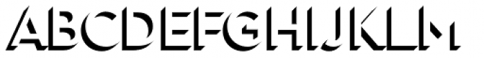 Town 31 Dimensional Medium Solo Font LOWERCASE