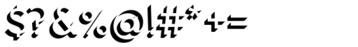 Town 31 Dimensional Regular Solo Font OTHER CHARS