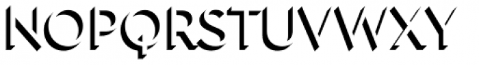 Town 31 Dimensional Regular Solo Font UPPERCASE
