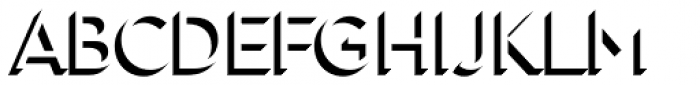 Town 31 Dimensional Regular Solo Font LOWERCASE