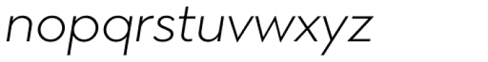 Town 80 Text Light Italic Font LOWERCASE