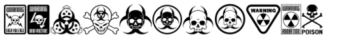 Tox Icons Remains Font LOWERCASE