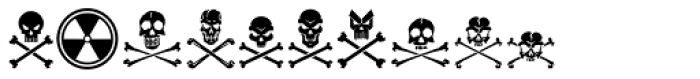 Tox Icons Reverse Font OTHER CHARS