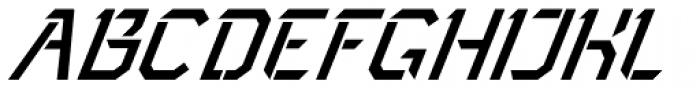 Toxic Italic Font UPPERCASE