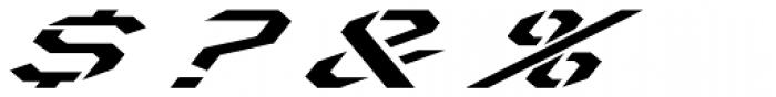 Toxic X Italic Font OTHER CHARS