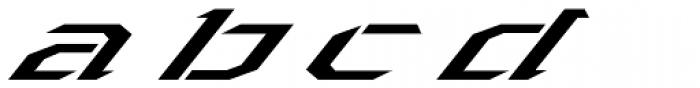 Toxic X Italic Font LOWERCASE
