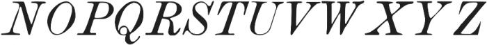 TPTC CW Book Italic otf (400) Font UPPERCASE