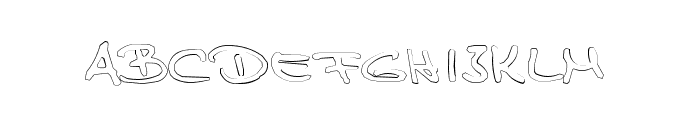 TPF  Claudia Outlined Font UPPERCASE