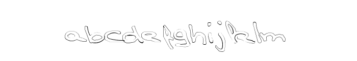TPF  Claudia Outlined Font LOWERCASE