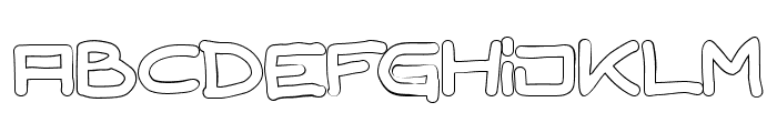 TPF Gaiety Outlined Font UPPERCASE