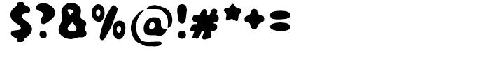 TPG Dont Blurry Regular Font OTHER CHARS