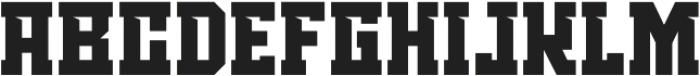 TRABASH-SPORT Regular otf (400) Font LOWERCASE