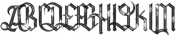 Tracker inline grunge otf (400) Font UPPERCASE