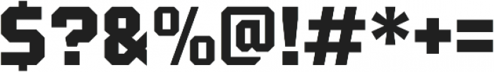 Tradesman Black otf (900) Font OTHER CHARS