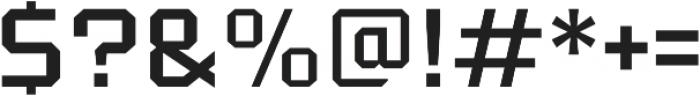 Tradesman Wide Regular otf (400) Font OTHER CHARS