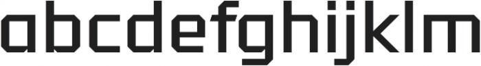 Tradesman Wide Regular otf (400) Font LOWERCASE