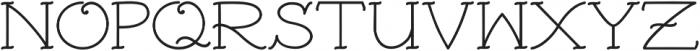 Traditional Tattoo Cap & Serif otf (400) Font UPPERCASE
