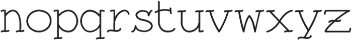 Traditional Tattoo Cap & Serif otf (400) Font LOWERCASE