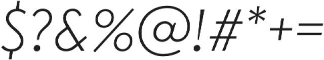 Transat Light Oblique otf (300) Font OTHER CHARS