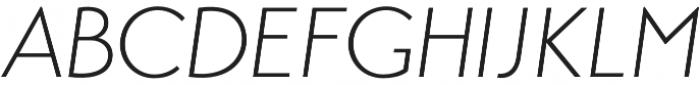 Transat Light Oblique otf (300) Font UPPERCASE