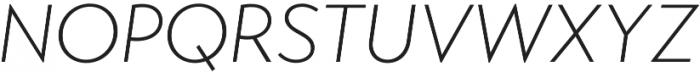 Transat Text Light Oblique otf (300) Font UPPERCASE