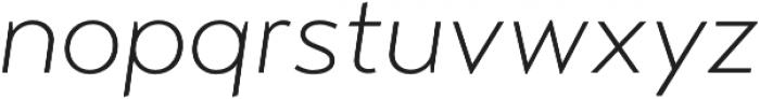 Transat Text Light Oblique otf (300) Font LOWERCASE