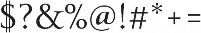 Transcend Light otf (300) Font OTHER CHARS