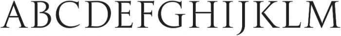 Transcend Thin otf (100) Font UPPERCASE
