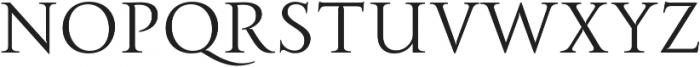Transcend Thin otf (100) Font LOWERCASE