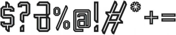 Transmetal otf (400) Font OTHER CHARS