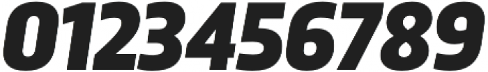 Trasandina  Black Italic otf (900) Font OTHER CHARS
