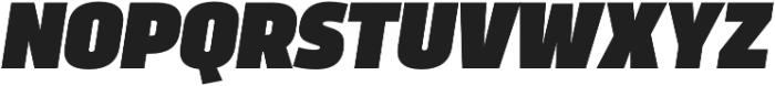 Trasandina  Ultra Italic otf (900) Font UPPERCASE