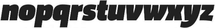 Trasandina  Ultra Italic otf (900) Font LOWERCASE