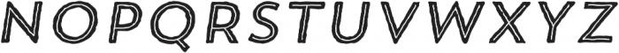 Trend HM Sans Five Italic otf (400) Font UPPERCASE