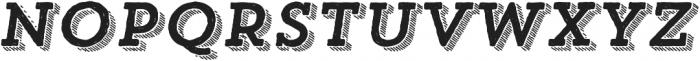 Trend HM Slab Four Italic otf (400) Font UPPERCASE