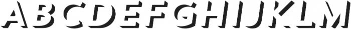 Trend Sans Two Italic otf (400) Font UPPERCASE