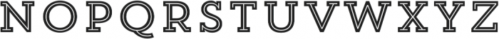 Trend Slab Five otf (400) Font UPPERCASE