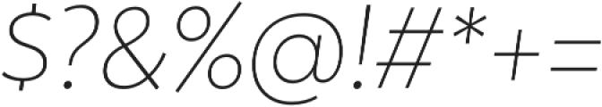 Trenda ExtraLight It otf (200) Font OTHER CHARS
