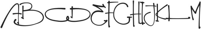 Trending Regular otf (400) Font UPPERCASE