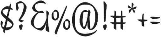 Trendy Display Regular otf (400) Font OTHER CHARS