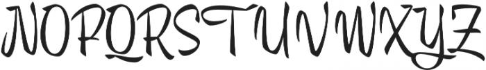 Trendy Display Regular otf (400) Font UPPERCASE